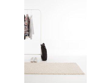 Tapis shaggy à poils longs Swirls Beige 80x300 cm - Tapis doux pour salon
