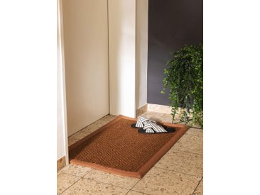 Essuie-pieds Greta Marron clair 60x90 cm - Tapis poil court design moderne pour salon