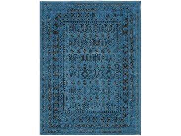 Tapis Vintage Antique Bleu 160x230 cm - Tapis poil ras / effet usé