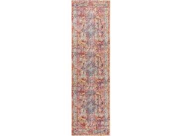 Tapis Vintage de couloir Visconti Multicouleur 70x240 cm - Tapis poil ras / effet usé