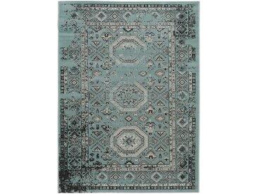 Tapis Vintage Antique Turquoise 120x170 cm - Tapis poil ras / effet usé