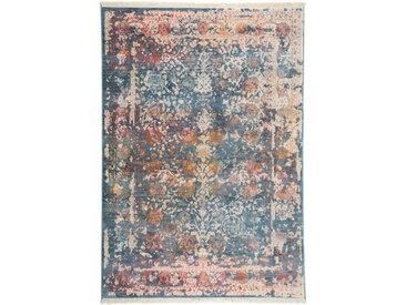 Tapis Vintage Safira Bleu 200x285 cm - Tapis poil ras / effet usé