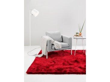 Tapis shaggy à poils longs Whisper Rouge 60x60 cm - Tapis descente de lit