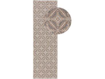 Tapis poil ras de couloir Cooper Beige 75x240 cm - Tapis poil court design moderne pour salon