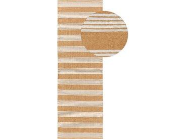 Tapis poil ras de couloir extérieur & intérieur Dura Beige 70x200 cm - Tapis poil court design moderne pour salon