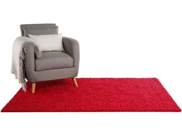 Tapis shaggy à poils longs Swirls Rouge 200x290 cm - Tapis doux pour salon