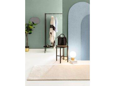 Tapis poil ras de couloir Bent Plain Crème 70x200 cm - Tapis poil court design moderne pour salon