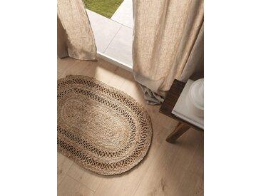 Essuie-pieds Kamala natural 60x90 cm - Tapis poil court design moderne pour salon