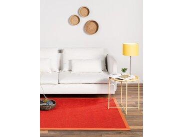 Tapis Sisal avec bordure Orange 80x150 cm - Tapis nature