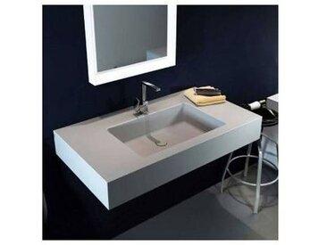 Viadurini Collezione Bagno Lavabo suspendu de design moderne en Luxolid made in Italy Ruffano