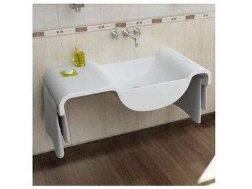 Viadurini Design Lavabo suspendu blanc de design moder e fabriqué en Italie Onda