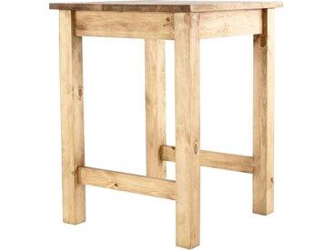 Table De Bar Pin Massif 80 X 80 Cm Edelweiss - Grenier Alpin