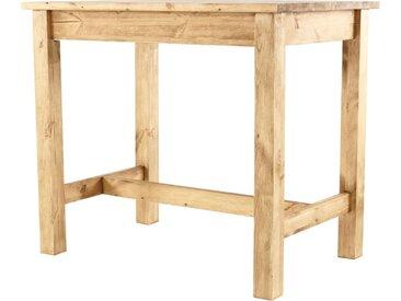 Table De Bar Pin Massif 120 X 80 Cm Edelweiss - Grenier Alpin
