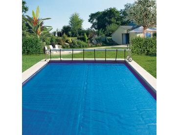 Bache à bulles Bleu 400 microns sur mesure pour piscine enterrée