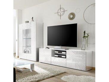 Grand ensemble télé blanc laqué design NERINA