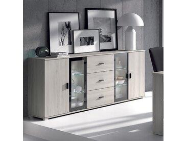 Buffet bahut couleur chêne gris contemporain SOPHIE