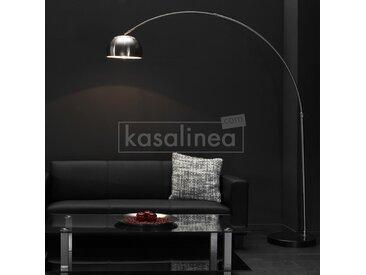 Lampadaire design en arc abat-jour en inox ARCADIUM
