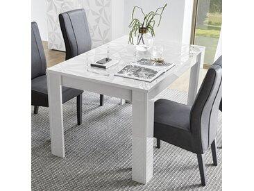 Table extensible 137 cm blanc laqué design NINO