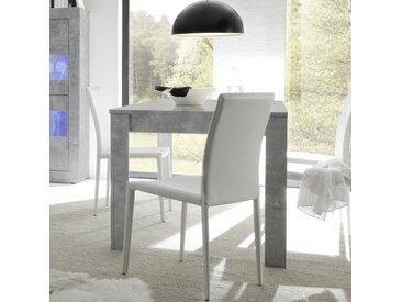 Table extensible 110 cm effet béton gris design ARIEL 4