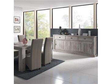 Salle à manger contemporaine couleur bois GARANCE-L 180 x P 100 x H 79,5 cm- Marron