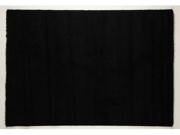 Tapis shaggy noir de salon STEPHEN