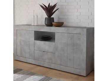 Buffet moderne 180 cm effet gris béton MABEL 2