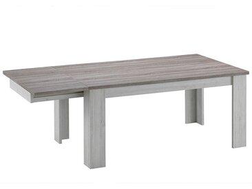 Table extensible couleur chêne clair et marron EMINA