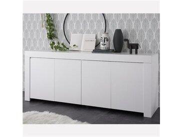 Enfilade 210 cm blanc laqué design AGATHE-L 210 x P 43 x H 86 cm- Blanc
