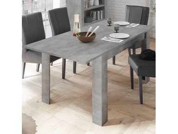 Table extensible 140 cm couleur gris béton design MABEL 2