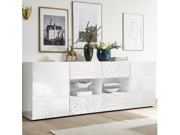 Enfilade 240 cm blanc laqué design NERINA