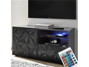 Banc TV LED 120 cm gris laqué design NINO 2