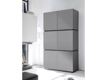 Buffet haut gris mat ou blanc mat laqué STANISLAS 3