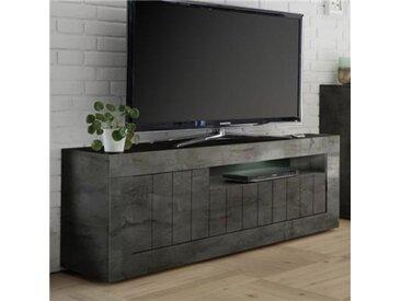 Banc TV gris anthracite moderne MABEL