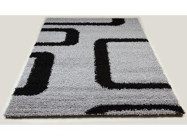 Tapis shaggy gris et noir de salon STEPHEN 10