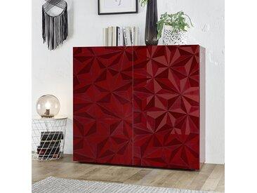 Buffet haut design rouge laqué NINO 3