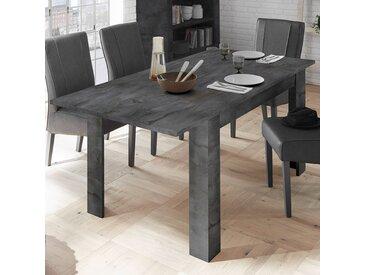 Table extensible grise couleur béton DOMINOS 4