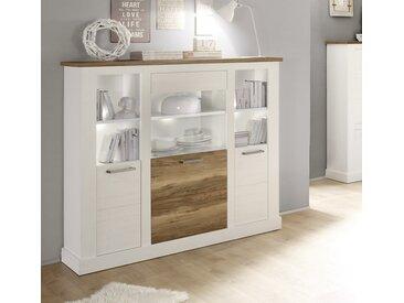 Buffet haut bois et blanc moderne LIZA