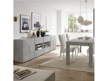 Salle à manger grise effet béton design DOMINOS 4