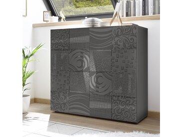 Buffet haut gris laqué design NERINA 2