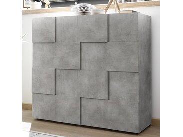 Buffet haut design gris effet béton DOMINOS 4