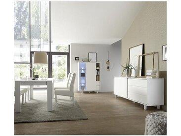 Salle à manger design couleur blanc laque ARSENE