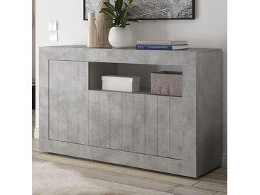 Buffet moderne 140 cm couleur gris béton MABEL 2