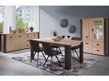 Salle à manger complète contemporaine couleur bois MELANY
