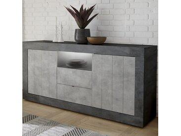 Buffet moderne 180 cm couleur gris béton MABEL 8