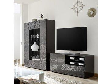 Ensemble TV gris laqué design NERINA 2
