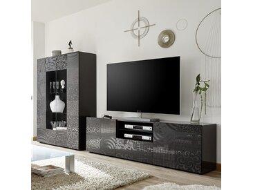 Grand ensemble TV gris laqué design NERINA 2