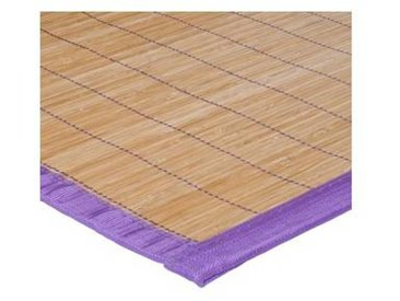 Tapis BALI Set de table Bamboo 33x48 ganse parme