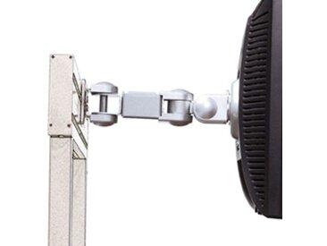 Supports écran 3 articulations Finition gris aluminium - fixation sur rail