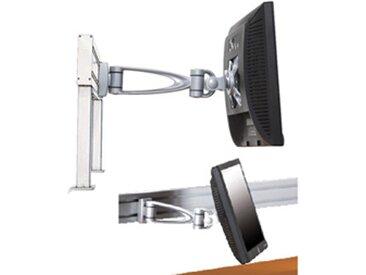 Support écran plat design 3 articulations - fixation rail - aluminium