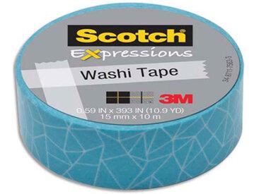 Ruban masking tape Scotch Expressions - 15 mm x 10 m - bleu écaille